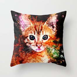 cat years wsstd Throw Pillow