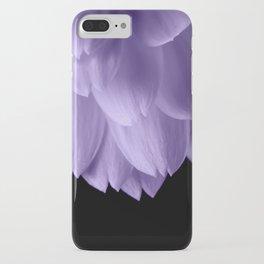 Ultra violet purple flower petals black iPhone Case