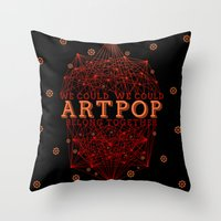 artpop Throw Pillows featuring Artpop by Mario Ezquerra