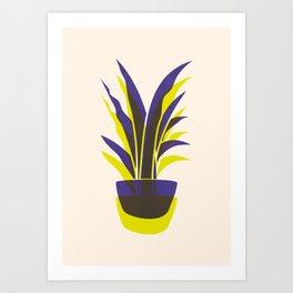 Spiky Plant (two colour mix) Art Print