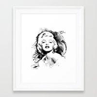 monroe Framed Art Prints featuring Monroe by Ron Jones The Artist