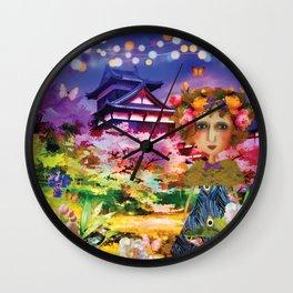 Himeji Castle Watercolour Wall Clock