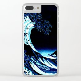 the Great Wave Blue Clear iPhone Case