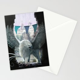 The white griffon Stationery Cards