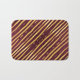 Fuchsia Golden Tiger Stripes Bath Mat