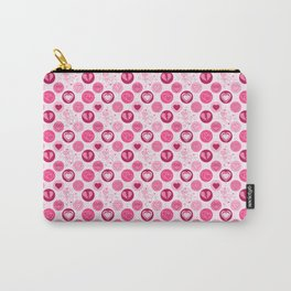 Pink Hearts Polka Dot Carry-All Pouch