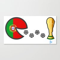 portugal Canvas Prints featuring Portugal by onejyoo
