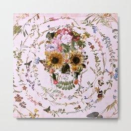 Circle Of Life Skullw Metal Print