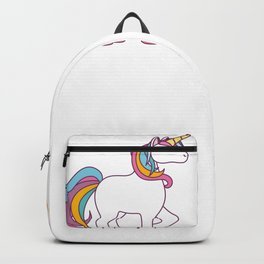 Funny Unicorn Before Coffee After Coffee T-shirts Gift Backpack