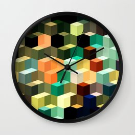 Loca Cubes Wall Clock