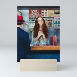 Prayer in a bar Mini Art Print