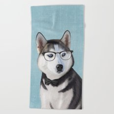 Mr Husky Beach Towel