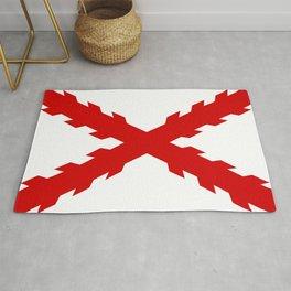old spain conquistador flag Rug