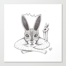 Fluffy Bunny- Shock Therapy Canvas Print