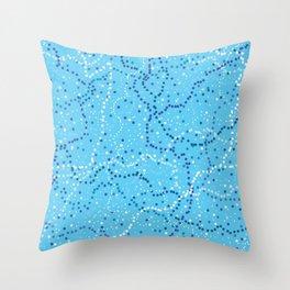 Milk Way Sky Blue Throw Pillow
