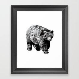 Bear Square Framed Art Print