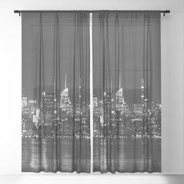 new york skyline Sheer Curtain