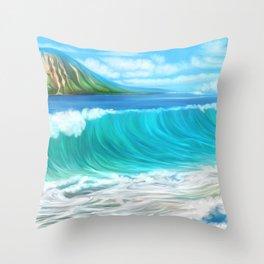 Mermaid's mountain Throw Pillow