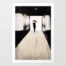 rain in the small town Art Print