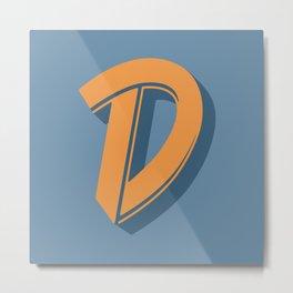 BOLD 'D' DROPCAP Metal Print