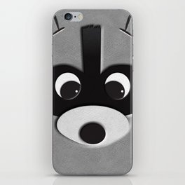 close up racoon iPhone Skin