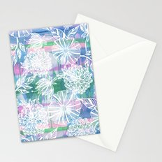 Garden in white Stationery Cards