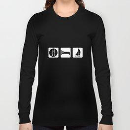 Eat Sleep Sail Long Sleeve T-shirt