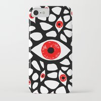 evil eye iPhone & iPod Cases featuring Evil Eye by Denise R.