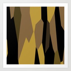 yellow tan olive and black Art Print
