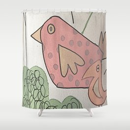 seeking birds Shower Curtain