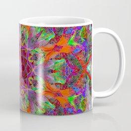 Orange Flavor Burst Mandala Coffee Mug