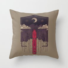 The Lost Obelisk Throw Pillow