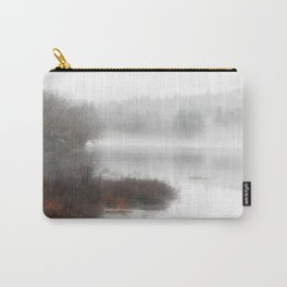 Foggy lake on a winter day - Nature Photography Carry-All Pouch