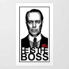 Boss of the Boardwalk Art Print