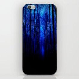 Deep Blue Forest iPhone Skin