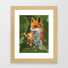 -= PUZZLED FOX =- Framed Art Print