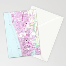 Vintage Map of Naples Florida (1958) Stationery Cards