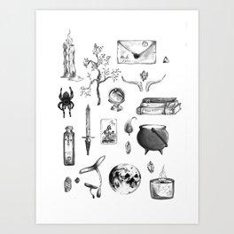 Witchy Habits Art Print