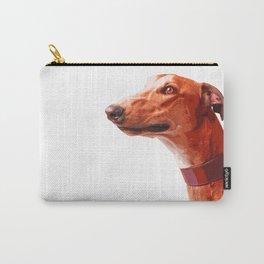Orange Greyhound. Pop art dog portrait Carry-All Pouch