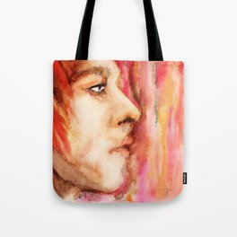 The Man Who Sold the World, Bowie portrait by Ines Zgonc Tote Bag