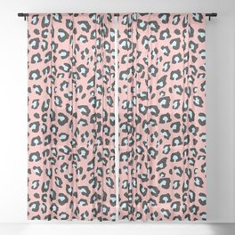Leopard Print - Icy Peach Sheer Curtain