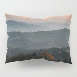 Hazy Mountains - Landscape and Nature Photography Pillow Sham
