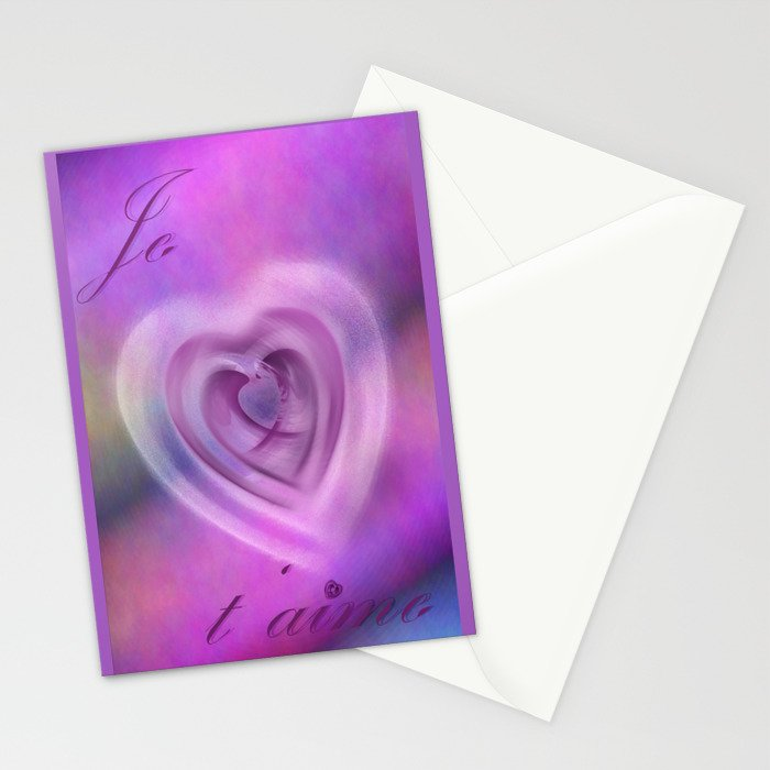 Je taime Stationery Cards