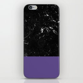 Ultra Violet Meets Black Marble #1 #decor #art #society6 iPhone Skin