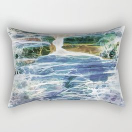 Abstract rock pool in the rough rocks Rectangular Pillow
