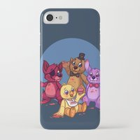 fnaf iPhone & iPod Cases featuring Five Nights at Freddy's by Emm Gee Art
