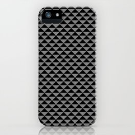 Black and Medium Gray Triangles iPhone Case