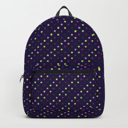 Hellebores Dots - Navy Backpack