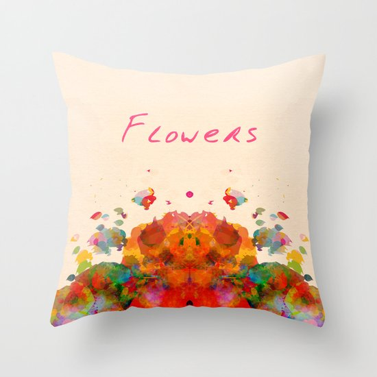 """""""Flowers - Well - if anybody"""" by Emily Dickinson Throw Pillow"""