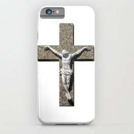 Jesuschrist on a Cross Sculpture iPhone Case